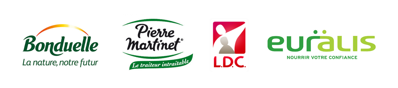 étiqueteuse industrielle automatique installée chez Bonduelle, Pierre Martinet, LDC et Euralis