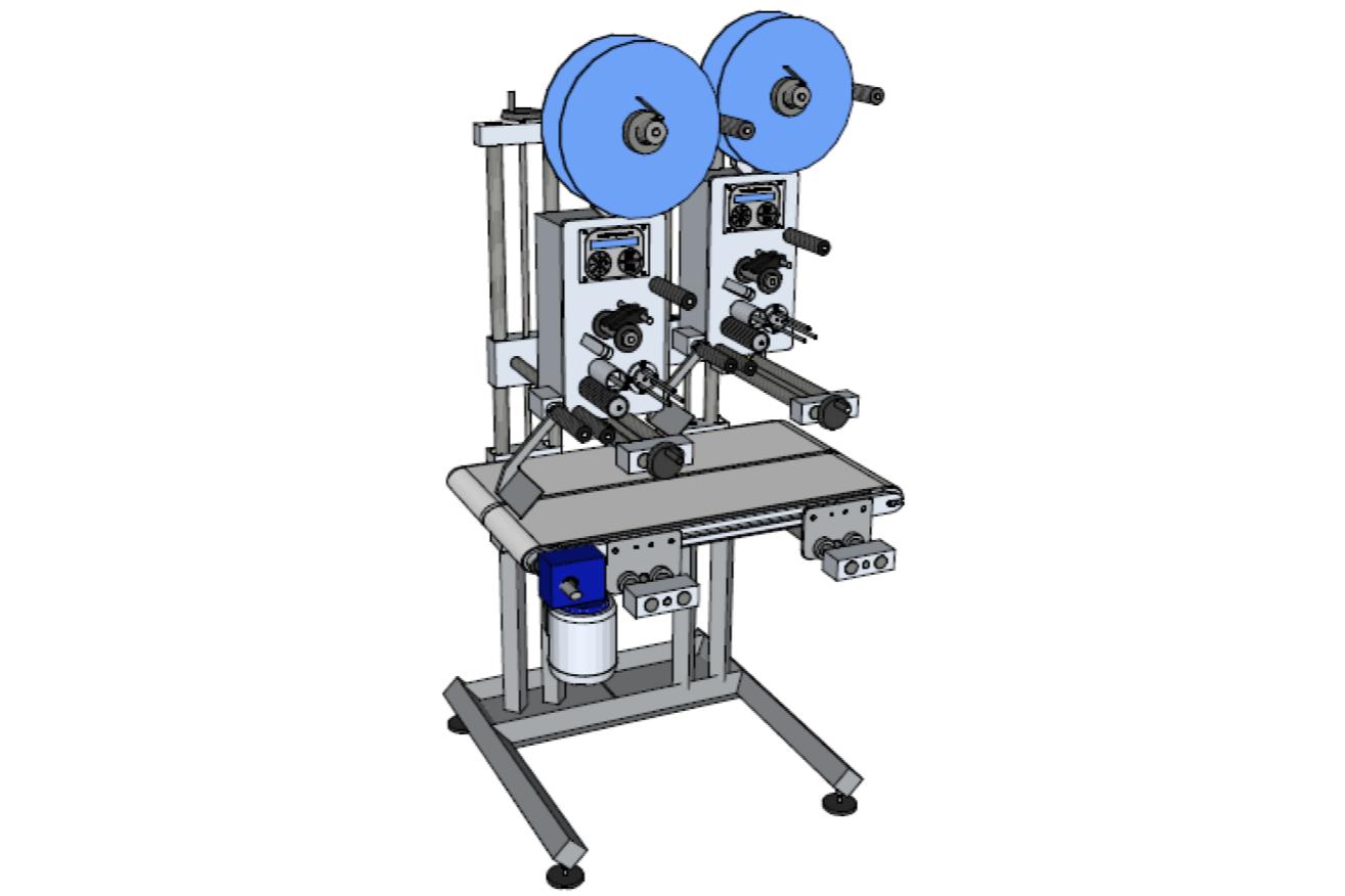Système d'étiquetage compact à double tête HM Systems