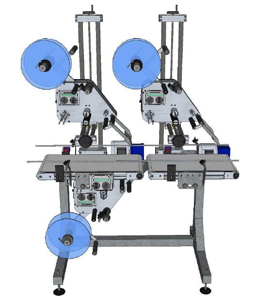 Système d'étiquetage dessus-dessous à 3 têtes HM Systems