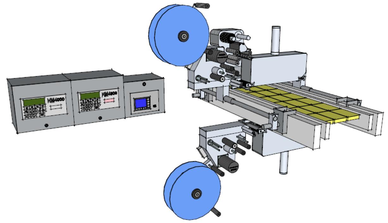 Etiquetage supérieur et inférieur sur machine de conditionnement HM Systems