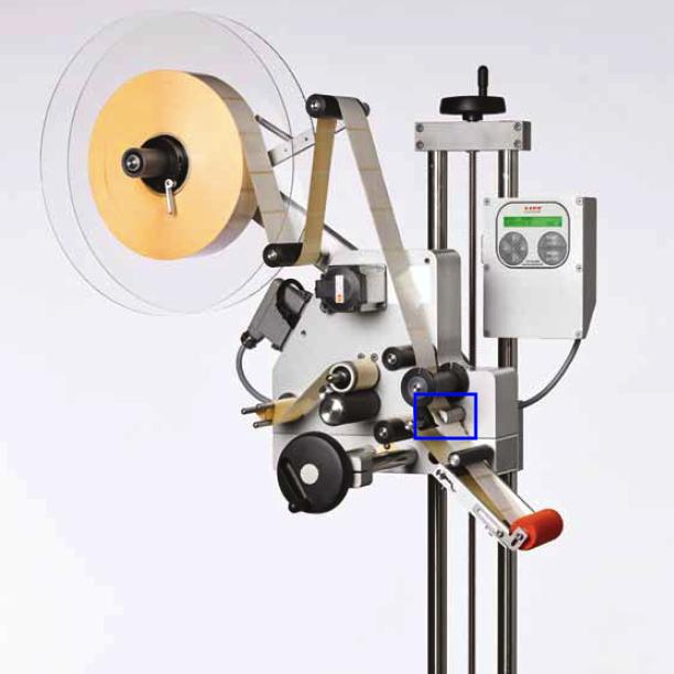 Cellule sur l'étiqueteuse industrielle HM 3000 HM Systems