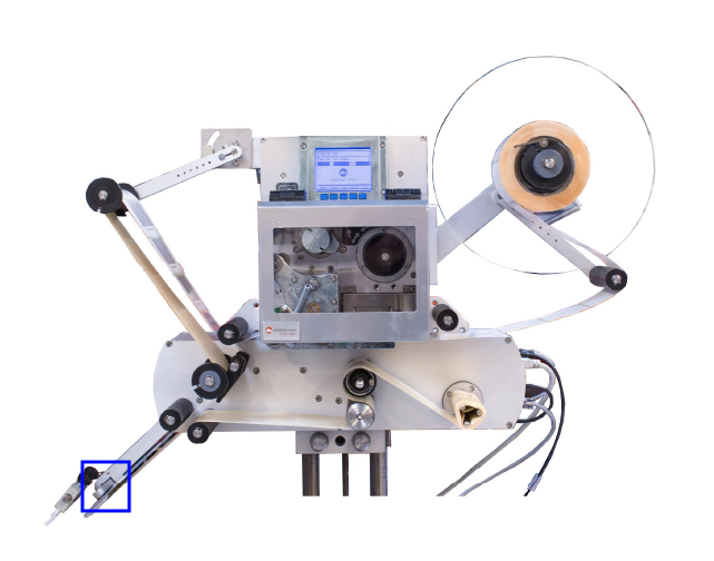 Cellule sur l'étiqueteuse industrielle HM 600P HM Systems