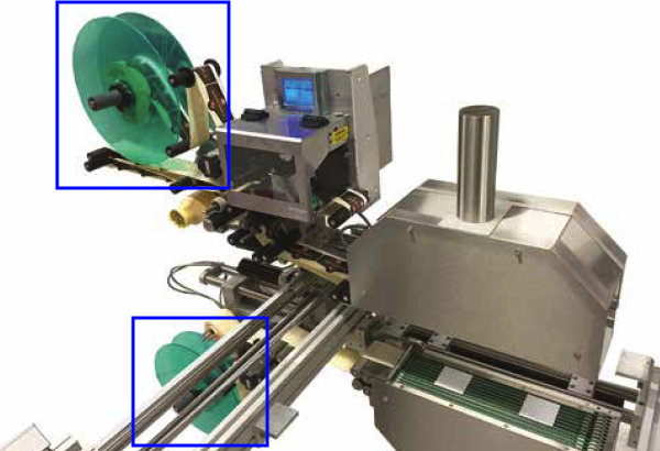 Flasques sur l'étiqueteuse industrielle HM 4000 HM Systems