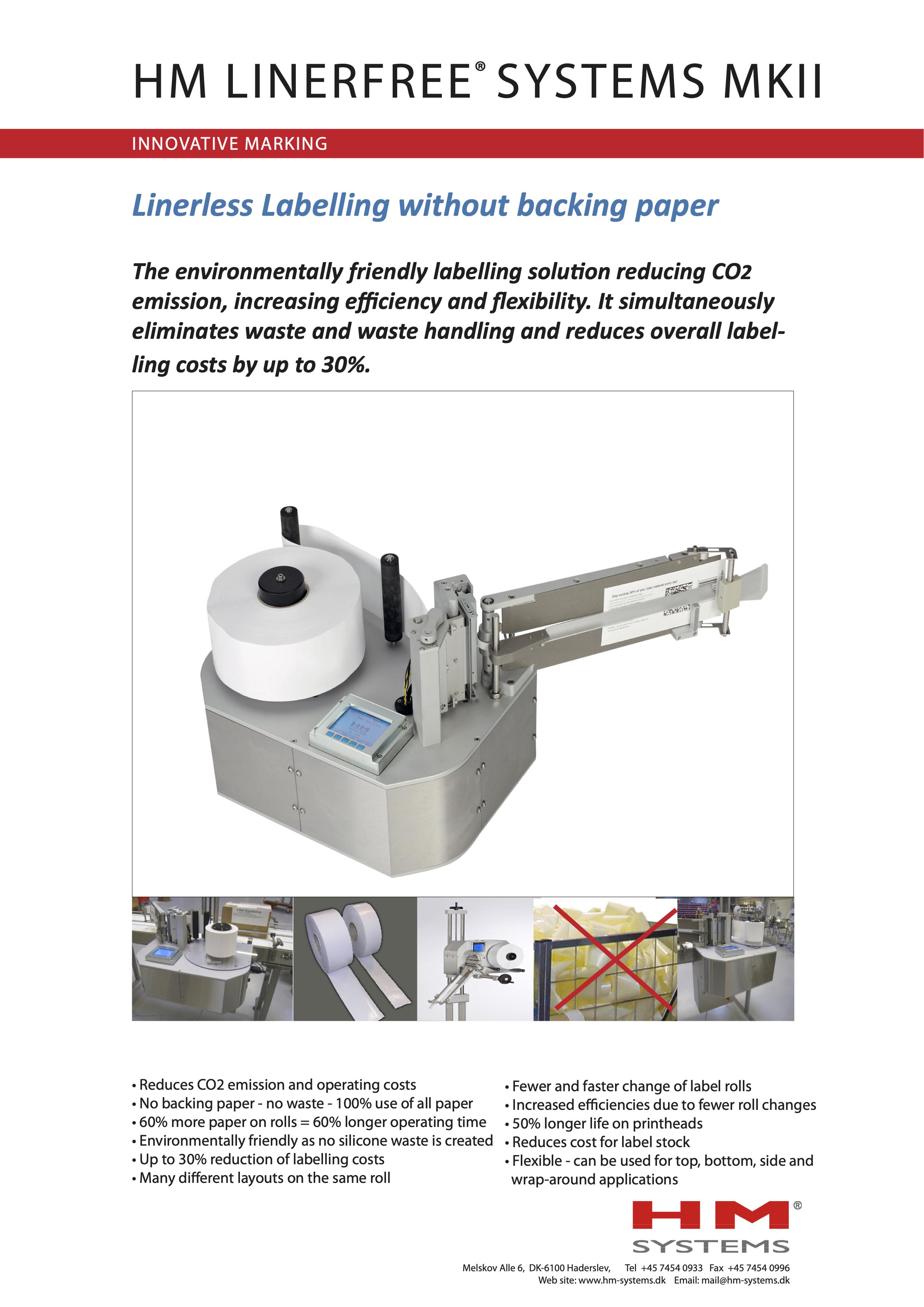Documentation sur l'étiqueteuse industrielle HM LinerFree®