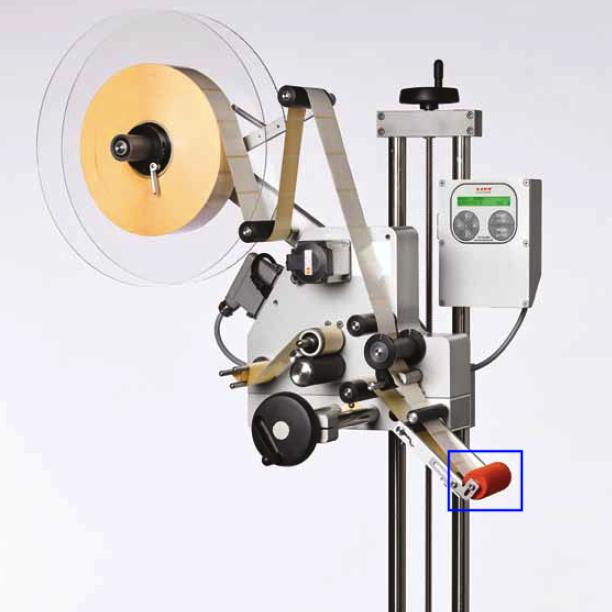 Rouleau mousse sur l'étiqueteuse industrielle HM 3000 HM Systems