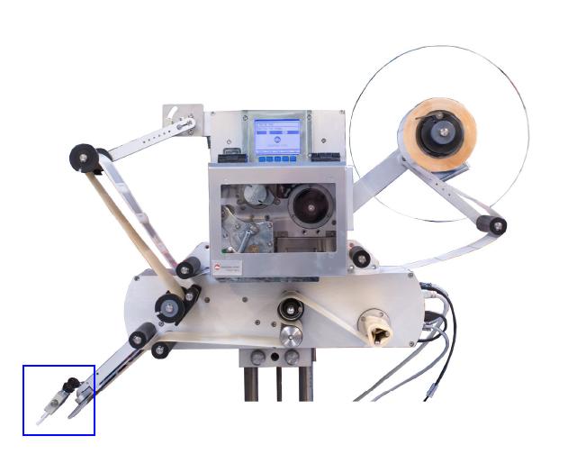 Brosse sur l'étiqueteuse industrielle HM 600P HM Systems