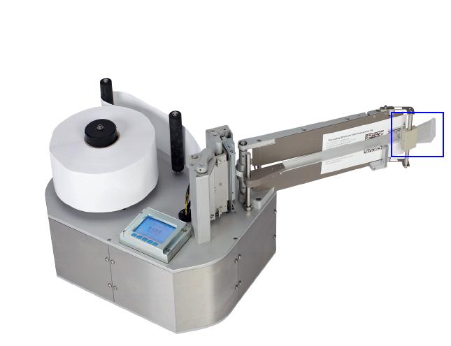 Brosse sur l'étiqueteuse industrielle HM Linerfree HM Systems
