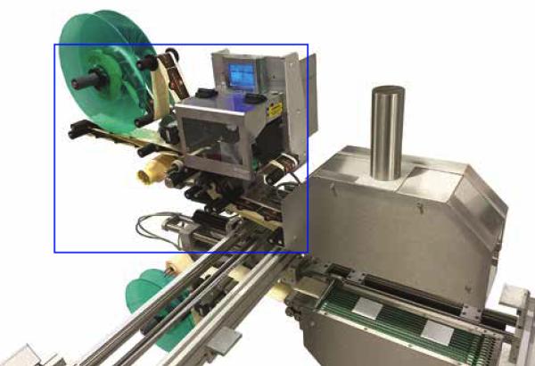 Rouleaux d'entrainement sur l'étiqueteuse industrielle HM 4000 HM Systems