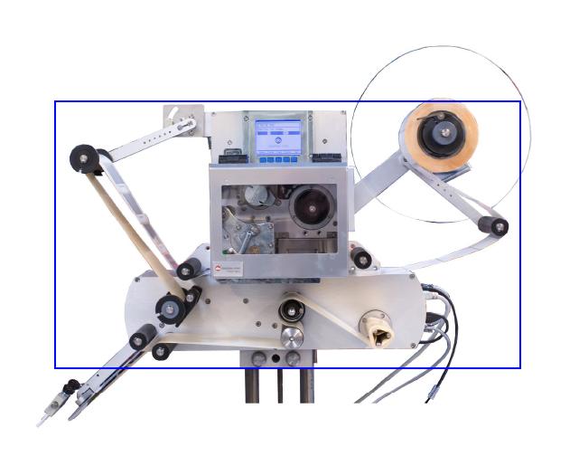 Rouleaux d'entrainement sur l'étiqueteuse industrielle HM 600P HM Systems