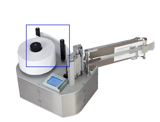 Rouleaux d'entrainement sur l'étiqueteuse industrielle HM Linerfree HM Systems