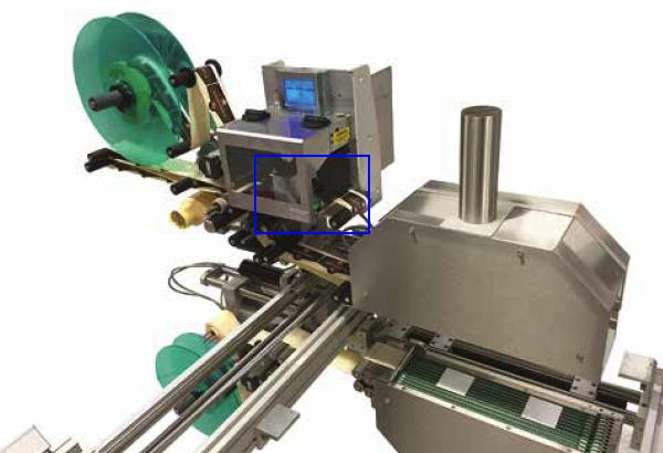 Tête d'impression sur l'étiqueteuse industrielle HM 4000 HM Systems