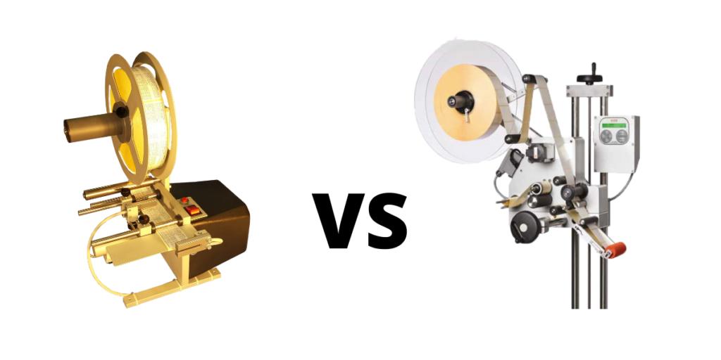 étiqueteuse automatique vs étiqueteuse semi-automatique